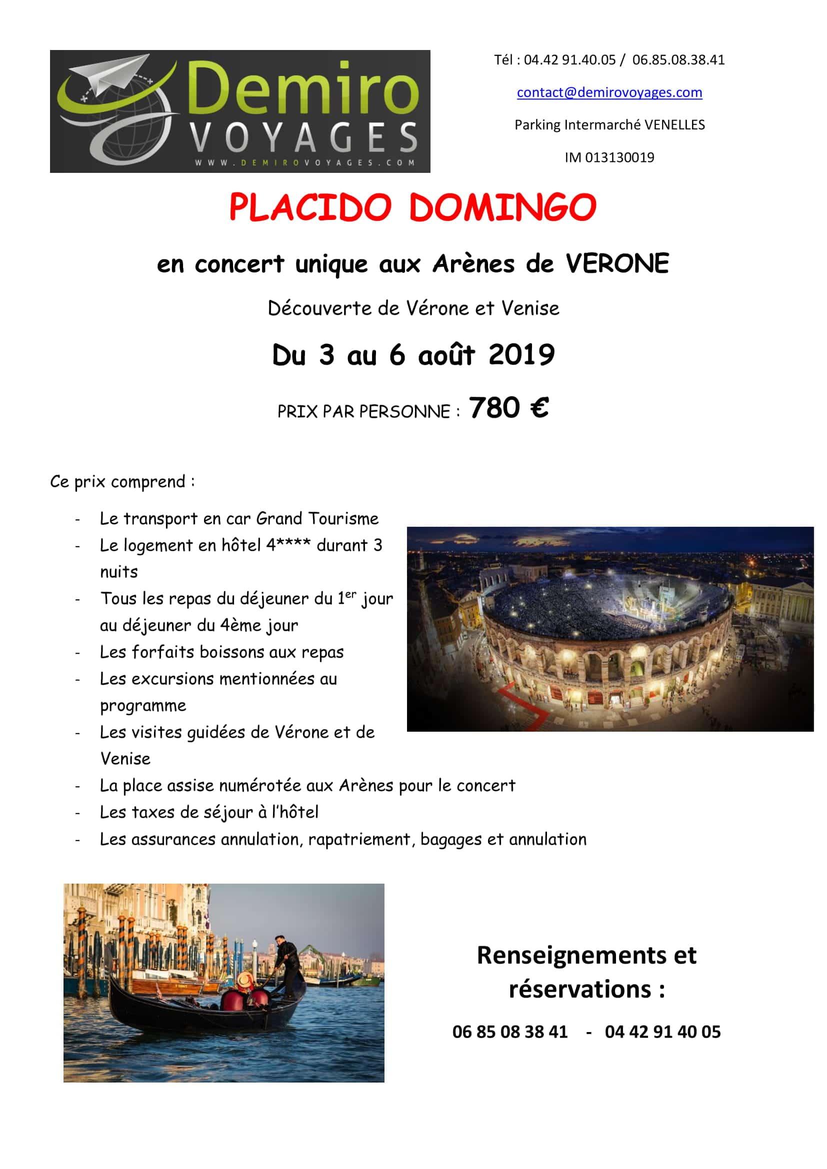 Placido Domingo Concert verone italie Voyage