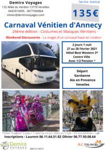 Demiro Voyages Carnaval véniten d'Annecy