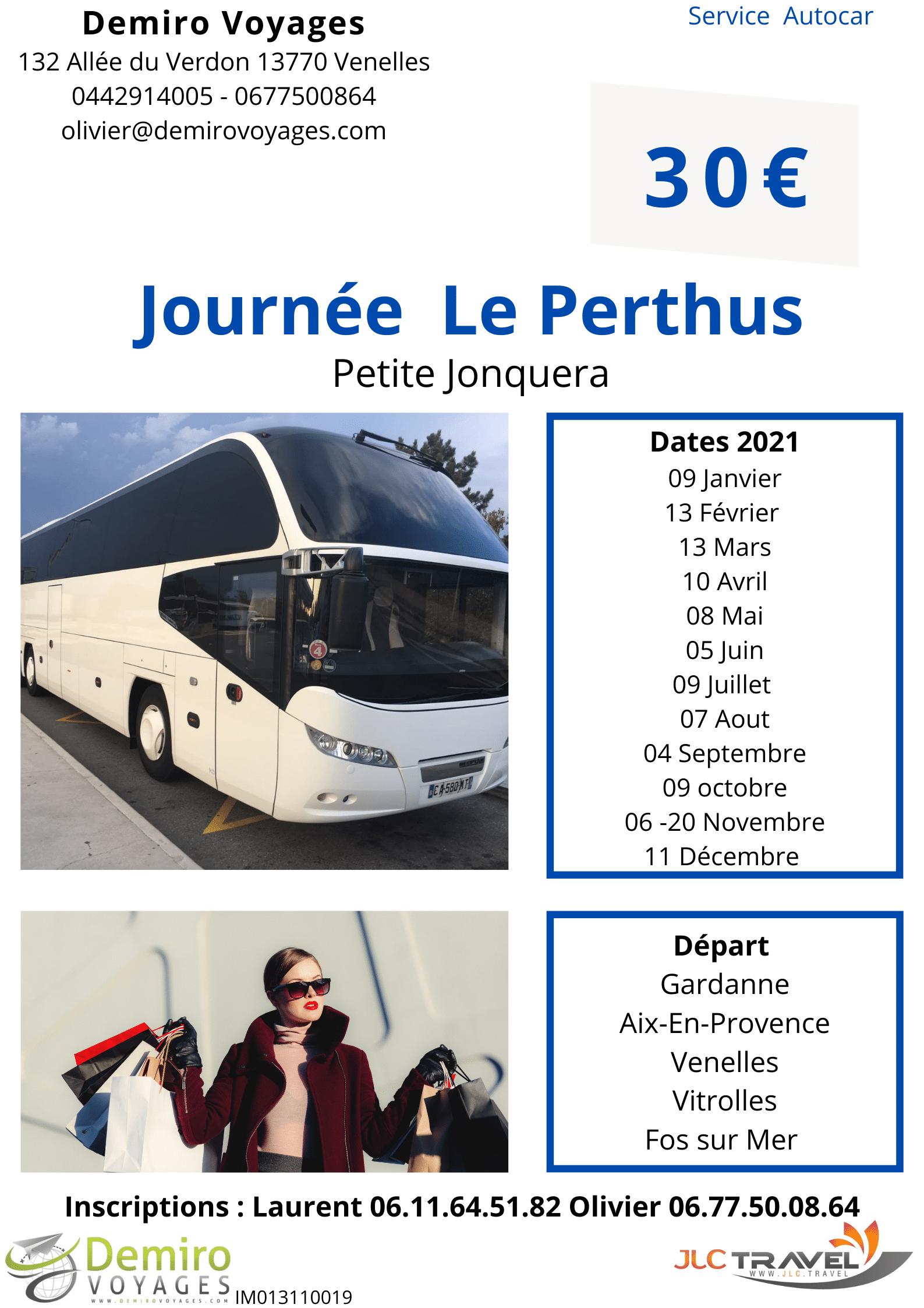 Le Perthus  la petite Jonquera Journée autocar Demiro Voyages départ Aix en Provence  Dates 2021