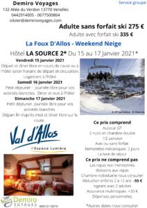 Foux D'Allos Demiro Weekend ski